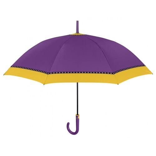 Perletti schirmfarbener Rand automatisch 102 cm violett