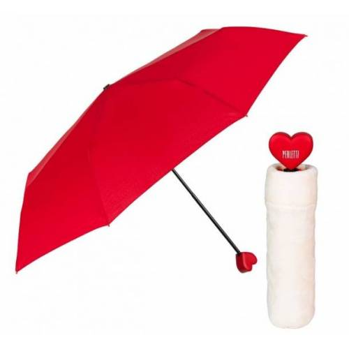 Perletti regenschirm faltbares Herz Damen rot 97 x 97 cm