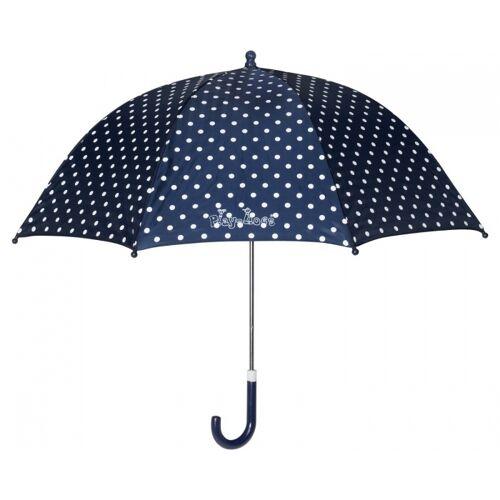 Playshoes regenschirm mit Punkten dunkelblau 70 cm