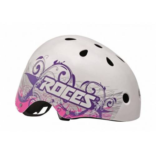 Roces Tattoo Aggressive Helm weiß / blau / rosa Größe 48 52