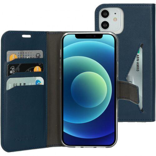 Mobiparts telefontasche für iPhone 12 (pro) blau