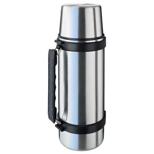 Isosteel Thermoskanne aus Edelstahl 1 Liter Silber
