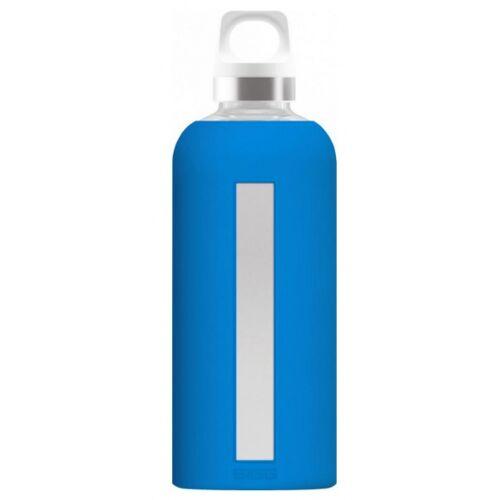 Sigg trinkflasche 500 ml Glas/Silikone blau