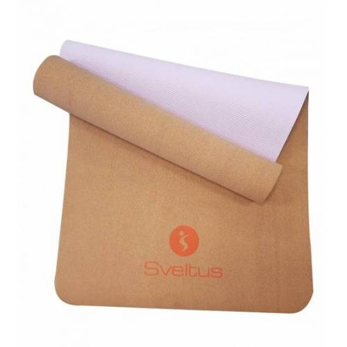 Sveltus yogamatte Kork 183 x 61 cm braun