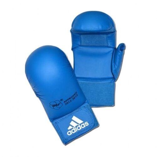 Adidas WKF Karate Handschuhe mit Daumen blau Größe S