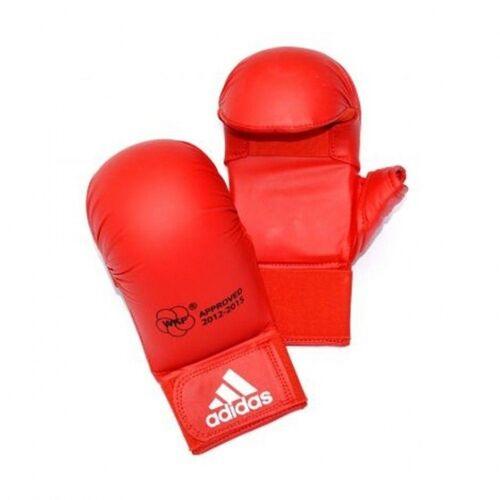 Adidas WKF Karate Handschuhe mit Daumen rot Größe S