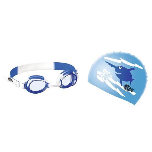 Beco schwimm Set mit Schwimmbrille und Schwimmkappe blau