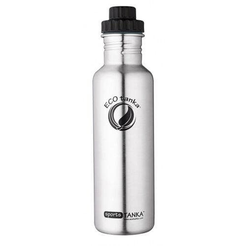 ECOtanka trinkflasche Sport Tanka800 ml Edelstahl Chrom/Schwarz