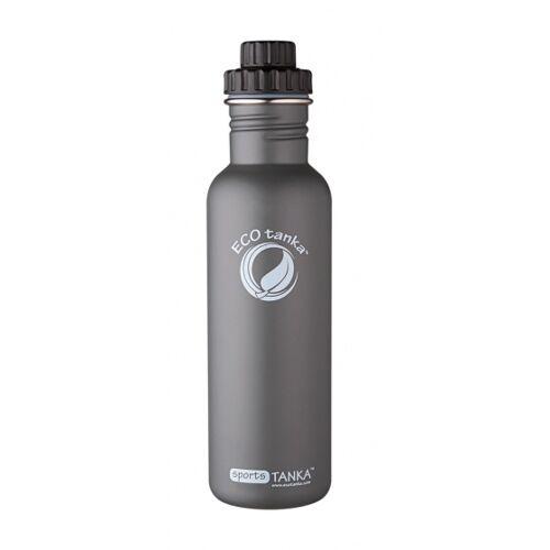 ECOtanka trinkflasche Sport Tanka800 ml Edelstahl grau/schwarz