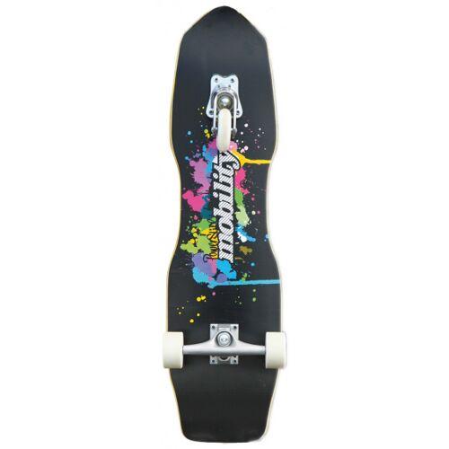 Powerslide skateboard Quakeboard24,4 x 82 cm Holz schwarz/weiß