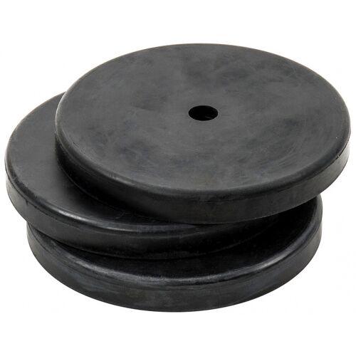Precision sockel 19 cm Gummi schwarz 3 Stück