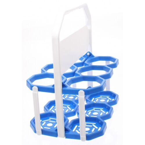 Roto Flaschenkäfig 6 Flaschen blau / weiß