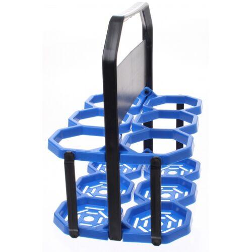 Roto Flaschenkäfig 6 Flaschen blau / schwarz