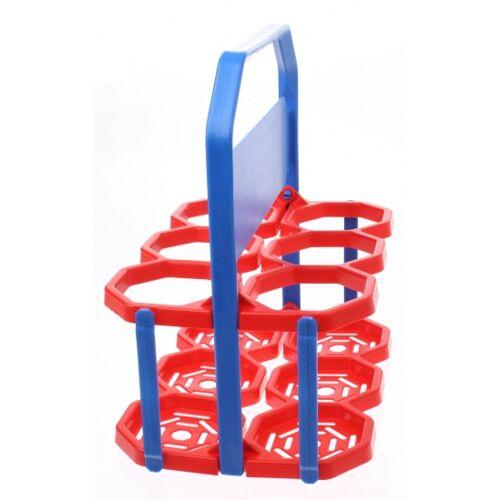 Roto Flaschenkäfig 6 Flaschen rot / blau