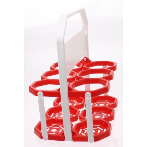 Roto Flaschenkäfig 6 Flaschen rot / weiß