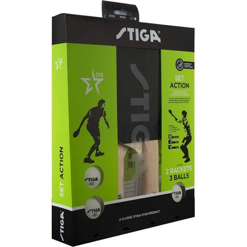 Stiga tischtennisplatte Action schwarz/rot