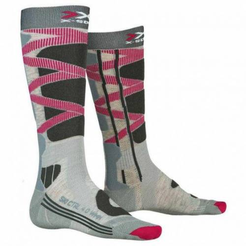 X-Socks X Socks skisocken Control Polyamid grau/rosa/braun