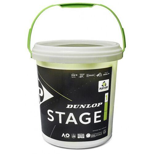 Dunlop minitennisball Stufe 1 Gummi/Filz grün/gelb 60 Stück