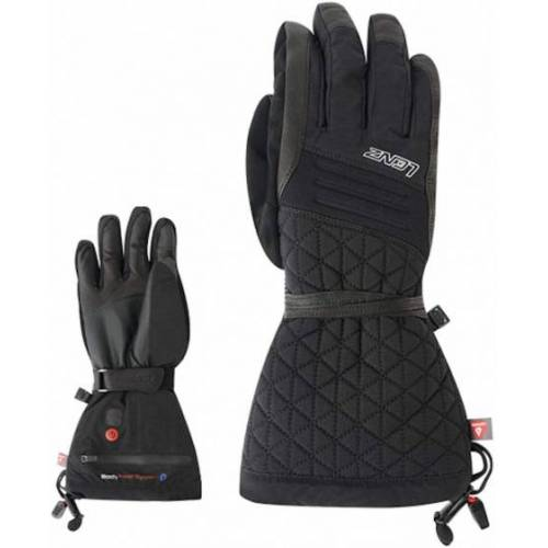 Lenz beheizte Handschuhe 4.0 Damen Leder/Elasthan schwarz