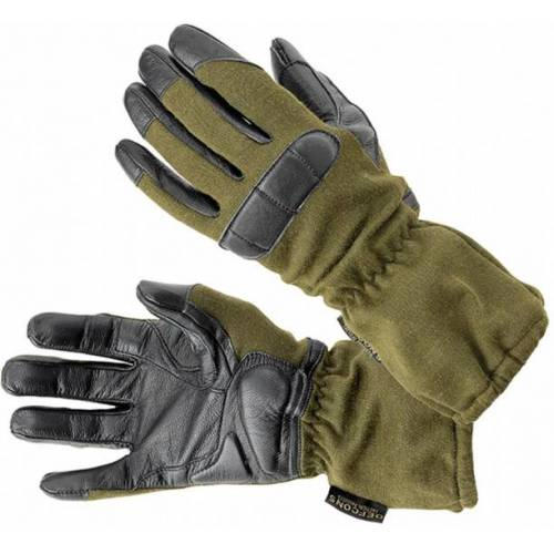 Defcon 5 handschuhe Nomex/Leder armygrün/schwarz Größe M