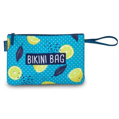Fabrizio clutch Bikini Bag 30 x 20 cm Zitronen blau