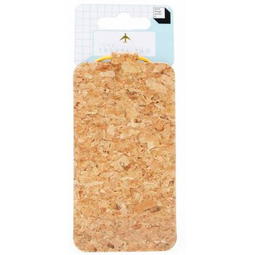 Suck UK kofferanhänger 11,6 x 6 cm Kork natur