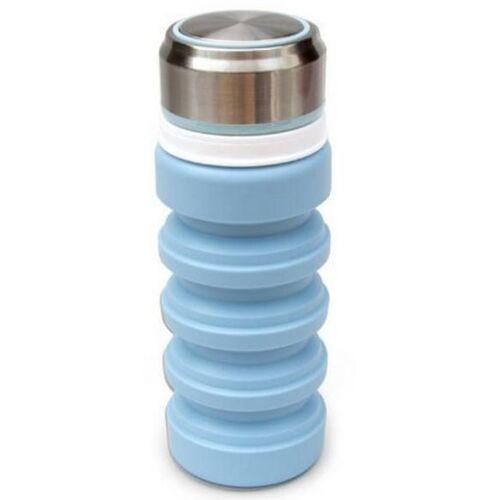 Suck UK trinkflasche faltbar 400 ml Stahl/Silikon blau