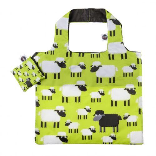 Any Bags faltbarer Shopper Schaf 48 cm grün