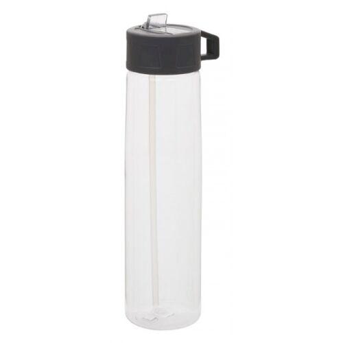 XD Collection trinkflasche mit Strohhalm 750 ml PP transparent