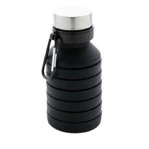 XD Collection trinkflasche faltbar auslaufsicher 550 ml schwarz