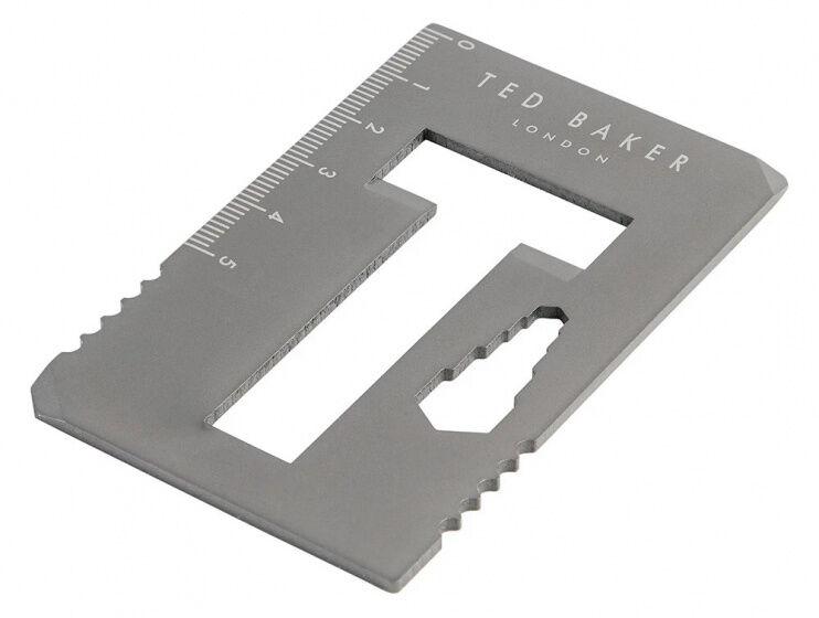 Wild & Wolf multitool Kreditkarte 8,4 cm Edelstahl grau 6 Funktionen
