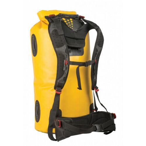 Sea to Summit hydraulischer Trockensack mit Gurtzeug 35 Liter gelb