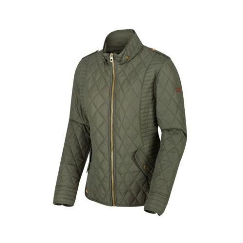 Regatta jacke Carita Damen Armee Grün Polyester Größe 34