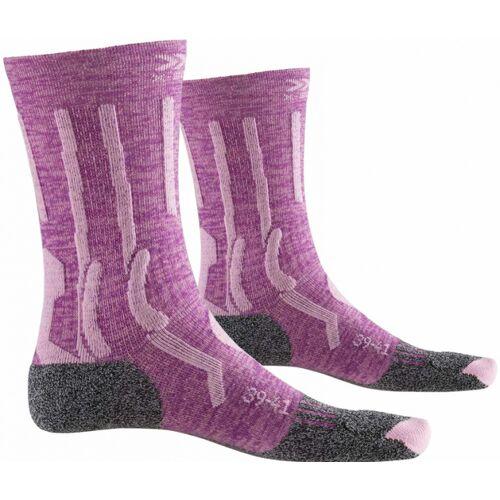 X-Socks X Socks wandersocken Trek X Wolle/Nylon lila/grau Größe 35/36