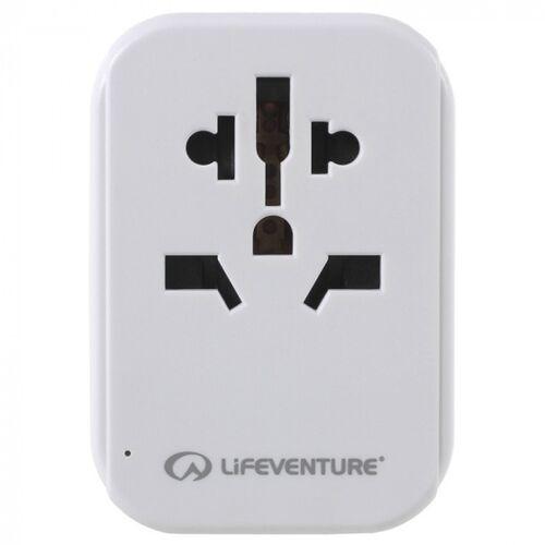 Lifeventure reiseadapter USB Europa 75 mm weiß
