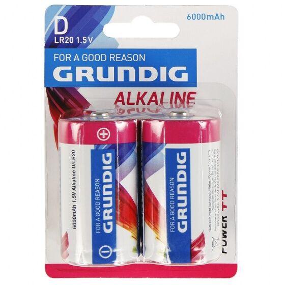 Grundig alkalische D/LR20 6000 mAh Batterien 2 Stück
