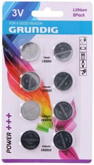 Grundig lithium 8 Knopfzellen Batterien