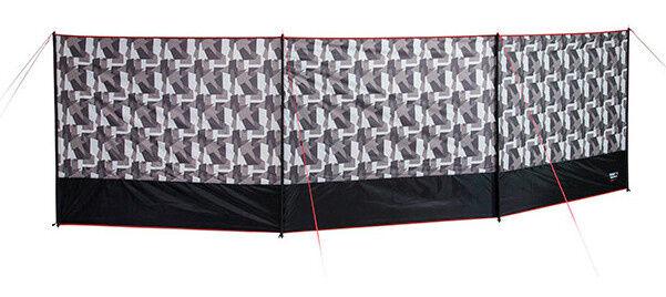 High Peak windschutz Marin 140 x 500 cm Polyester schwarz/grau