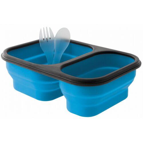 Eurotrail lunchbox faltbares Silikon 21 x 15 cm blau Größe M