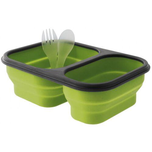 Eurotrail lunchbox faltbares Silikon 21 x 15 cm grün Größe M