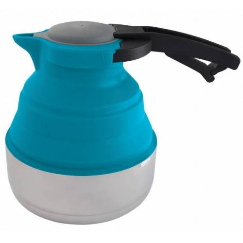 Eurotrail faltbarer Wasserkocher 1,8 Liter Silikon / stahlblau