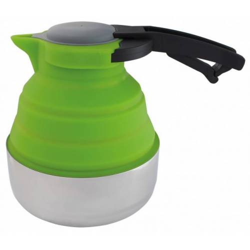 Eurotrail faltbarer Wasserkocher 1,8 Liter Silikon / Stahl grün