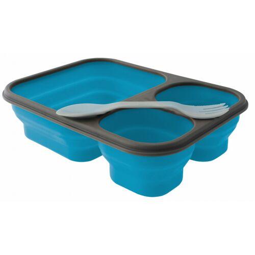 Eurotrail lunchbox faltbarer Silikon 25 x 18 cm blau Größe L