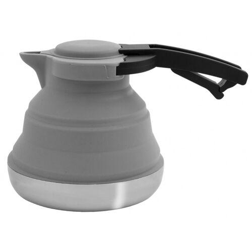 Eurotrail wasserkocher 1,2 Liter klappbar Silikon/RVS grau