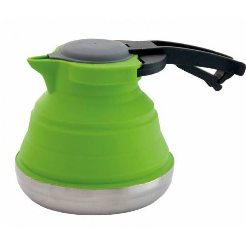 Eurotrail wasserkocher 1,2 Liter faltbar Silikon/RVS grün