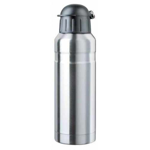 Isosteel Edelstahl Sportflasche 0,7 Liter Silber