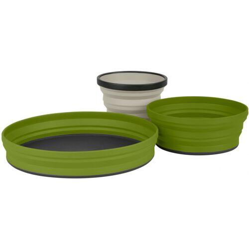Sea to Summit geschirrset X Set olivgrün/sandfarben 4 Stück