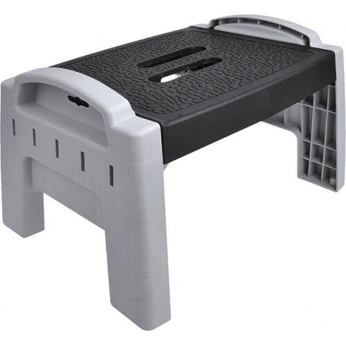 ProPlus klappbare Stufen schwarz / grau 32 x 26 x 22 cm