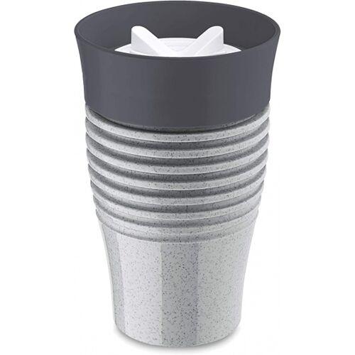 Koziol thermosbecher Safe To Go 400 ml grau/weiß