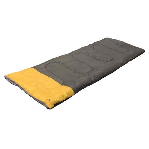 Camp Active schlafsack 190 x 75 cm grau/gelb